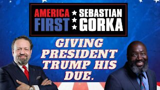 Giving President Trump his due. Matthew Charles with Sebastian Gorka on AMERICA First