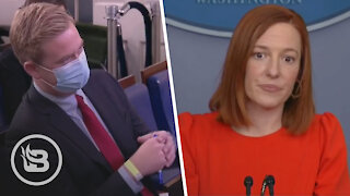 Reporter Leaves Biden's Press Sec. STUNNED When He Points Out Their Hypocrisy On Masks