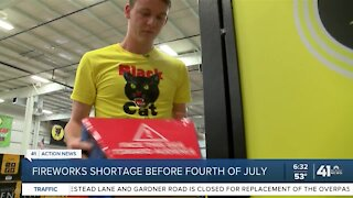 Fireworks shortage before Fourth of July