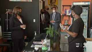 VP Harris dropped by local businesses during Tri-State visit