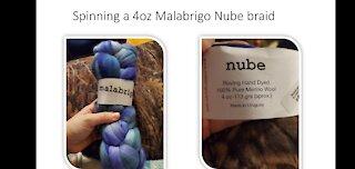 Spinning a Malabrigo Braid slideshow