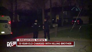 13-year-old charged with killing brother