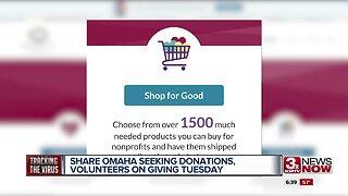 SHARE Omaha seeking donations, volunteers on Giving Tuesday
