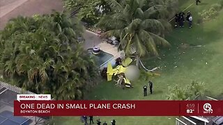 One dead in small plane crash in Boynton Beach