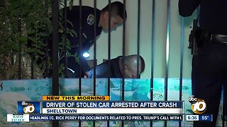 Suspected car thief arrested after crash in Shelltown