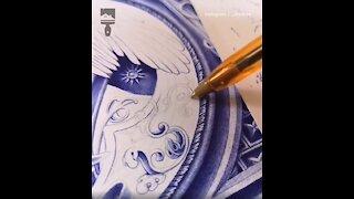 Guy Makes Stunning Art With Ballpoint Pen