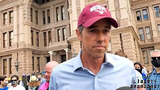 Beto O'Rourke Leads Libtard Clown Show Protesting Texas Bill SB7 Upholding Election Integrity