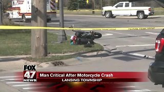 Man critical after motorcycle crash