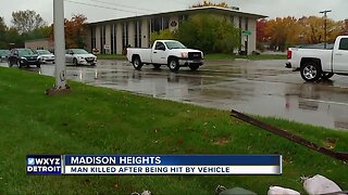 Man killed after being hit by vehicle in Madison Heights
