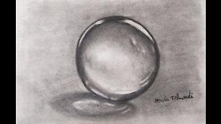 Draw a glass ball