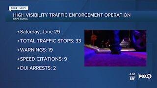 Cape Coral traffic enforcement operation
