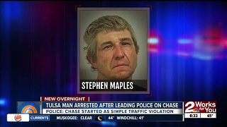 Man arrested after leading police on chase