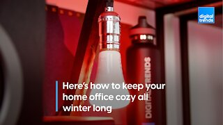 Here's how to keep your home office cozy all winter long