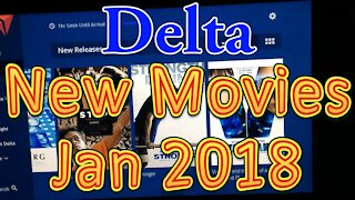 Delta Airlines In flight Movies for January 2018 (New Releases)