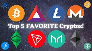 My Top 5 Favorite Cryptocurrencies