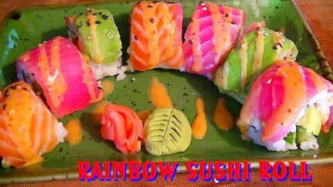 Rainbow Sushi Roll Recipe by Chef George Krumov