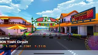 Mario Kart Tour - GCN Yoshi Circuit Gameplay (Winter Tour)