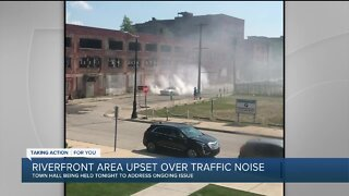 Riverfront area residents upset over traffic noise in neighborhood