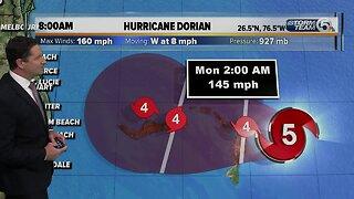 Hurricane Dorian 8am update - 9/1/19