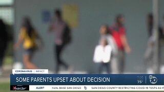 Some parents upset about decision