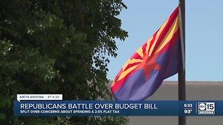 Arizona Republicans battle over budget bill