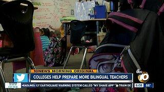 Community Colleges start program to train more bilingual teachers