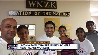 Livonia family raises money to help healthcare workers