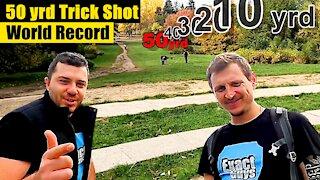 Epic 50 yard tennis ball trick shot