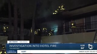 Hotel evacuated after catching on fire
