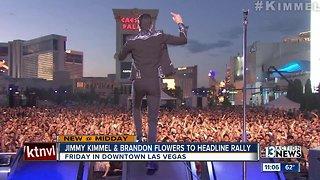 Jimmy Kimmel, Brandon Flowers to headline Las Vegas rally Friday for Rosen