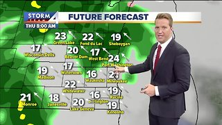Mostly cloudy and mild Wednesday