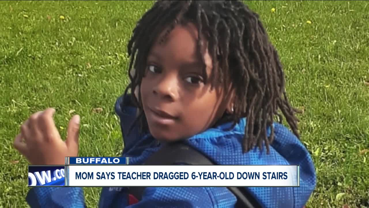 Mom says teacher dragged 6-year-old down stairs