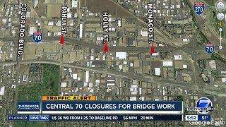 Central 70 closures for road work