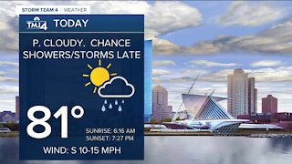 Showers possible overnight Monday
