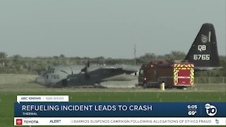 Military jet crash in the desert
