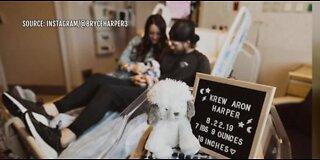 Bryce Harper welcomes first child