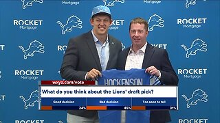 Detroit Lions introduce first-round pick T.J. Hockenson