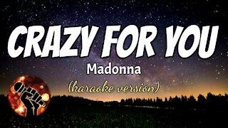 CRAZY FOR YOU - MADONNA (karaoke version)