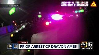 Prior arrest of Dravon Ames in Tempe