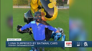 Batman pays kid battling cancer a visit
