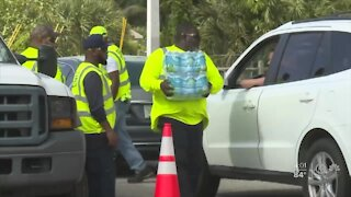 Water distribution continues in West Palm Beach
