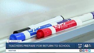 Teachers prepare for return to school