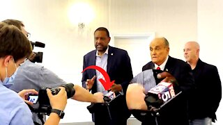 Why Was a CNN Reporter Pointing a FOX Mic at Vernon Jones?