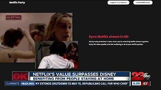 Netflix's value surpasses Disney