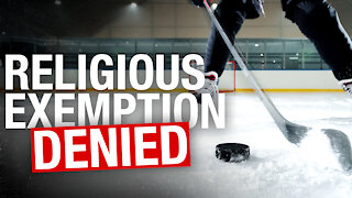 INTERVIEW: Hockey dad's son refused religious exemption to Toronto league's vax mandate