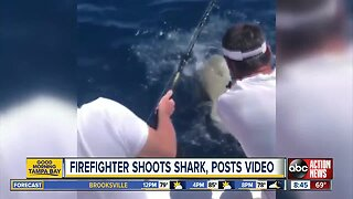 People upset after Naples firefighter posts video shooting shark; FWC investigation