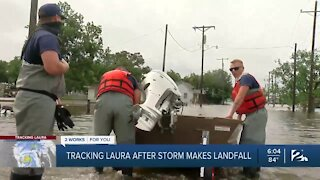 Tracking Laura after storm makes landfall