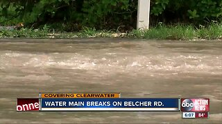 Water main break closes portions of Clearwater road