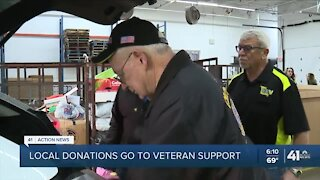 Local donations go to veteran support