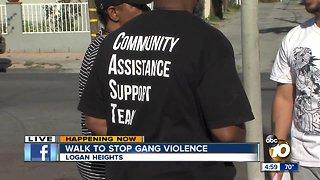 Walk to stop gang violence in San Diego communities